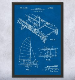 boat captain boating gift sailboat blueprint ocean racing yacht club nautical gift sailor gift sailing boat luxury boat vintage sailing patent art  [ 1000 x 1000 Pixel ]