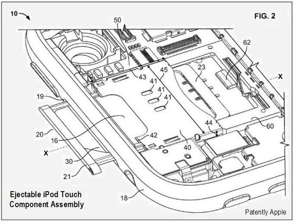 Future Apple iPod Touch to Have Ejectable Component