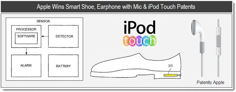 Apple Wins Smart Shoe, Earphones with Mic & iPod Touch