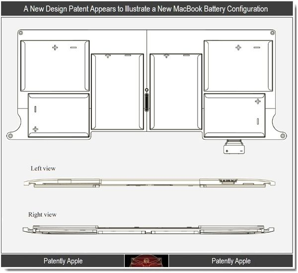 Design Patents Reveal New MacBook Battery & SSD