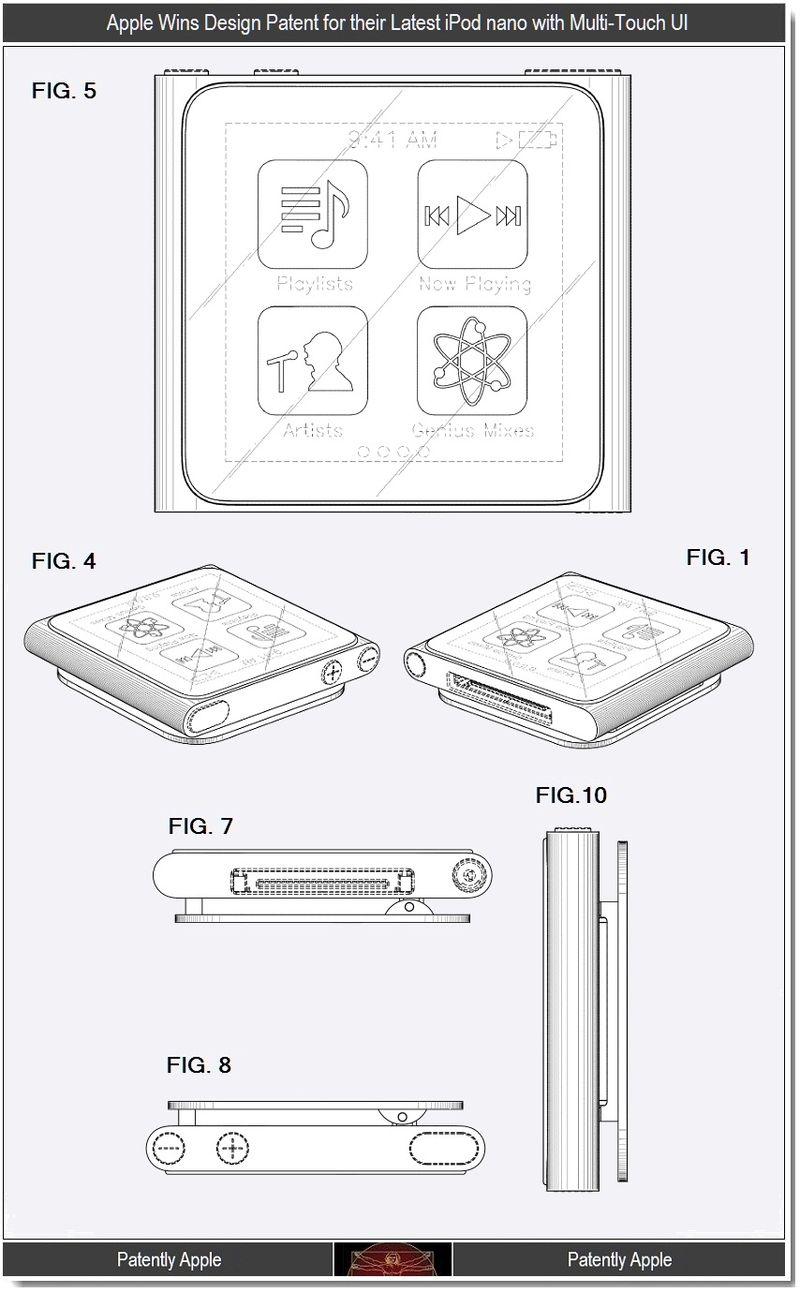 Apple Wins Design Patents for the Multi-Touch iPod Nano