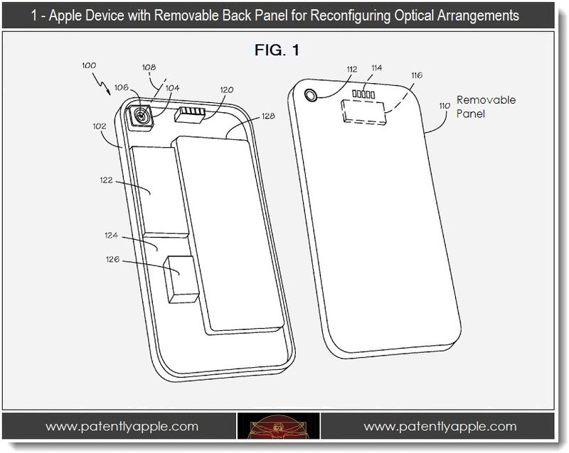 Apple Invents Device with Removable Back Panel Optical