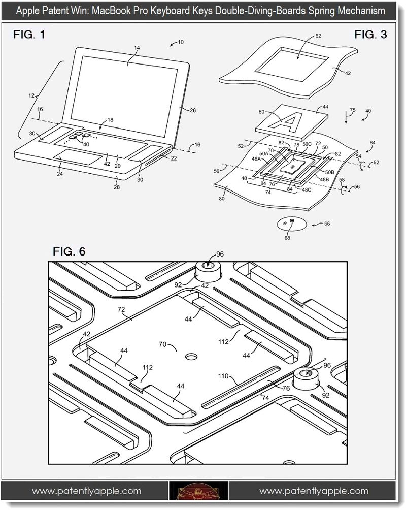 Apple Wins Patents for Advanced MacBook Keyboard, Creating