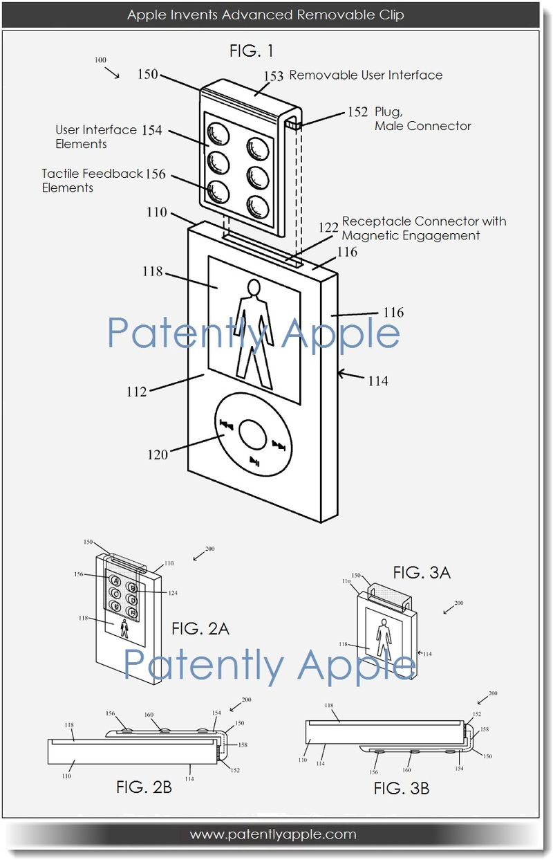 Apple Invents a Removable Device Clip with Glass Touchpad