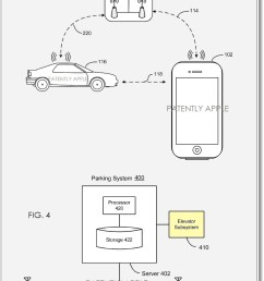 apple patent filing for locating a vehicle in a parking structure [ 861 x 1391 Pixel ]