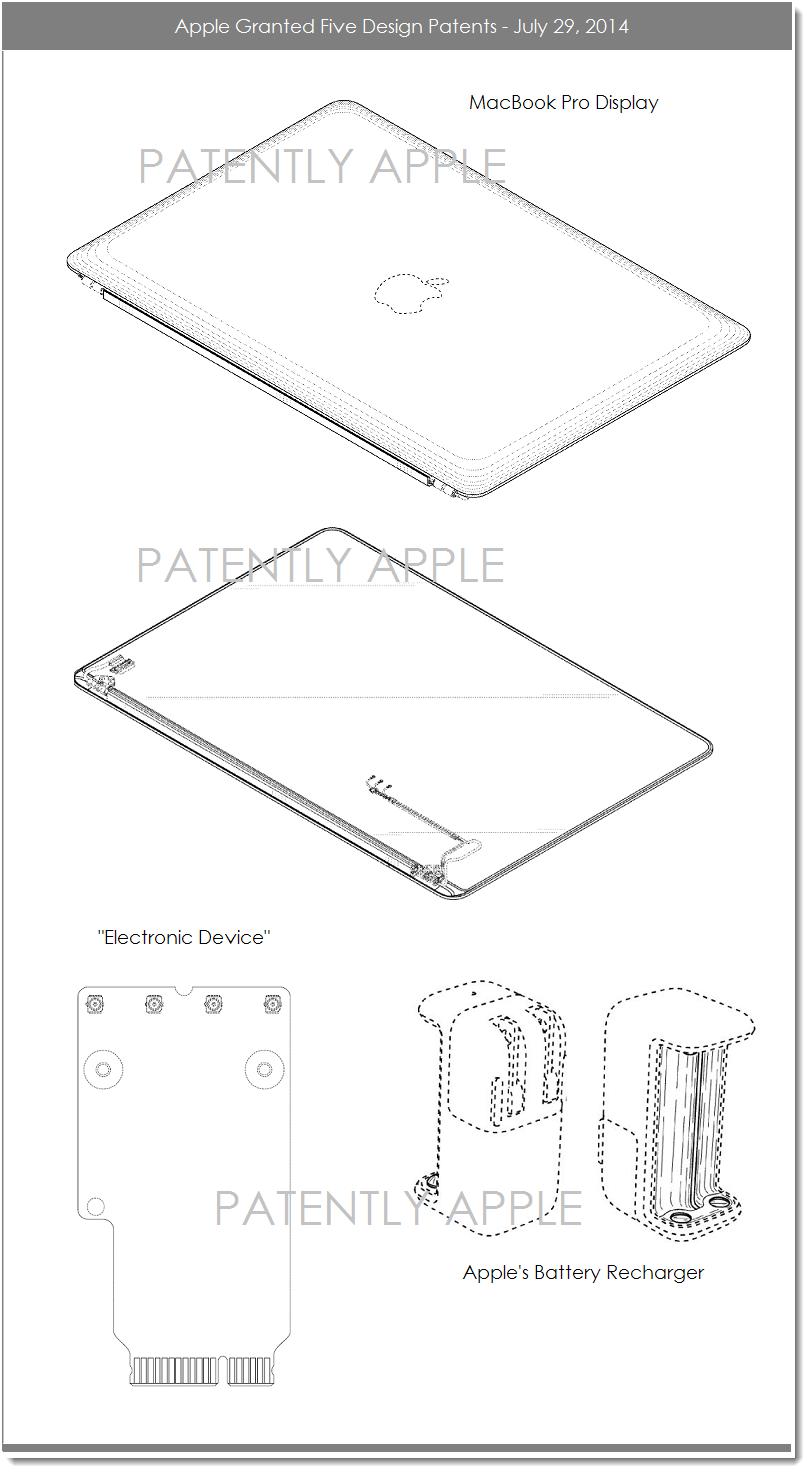 medium resolution of 4af apple granted 5 design patents july 29 2014