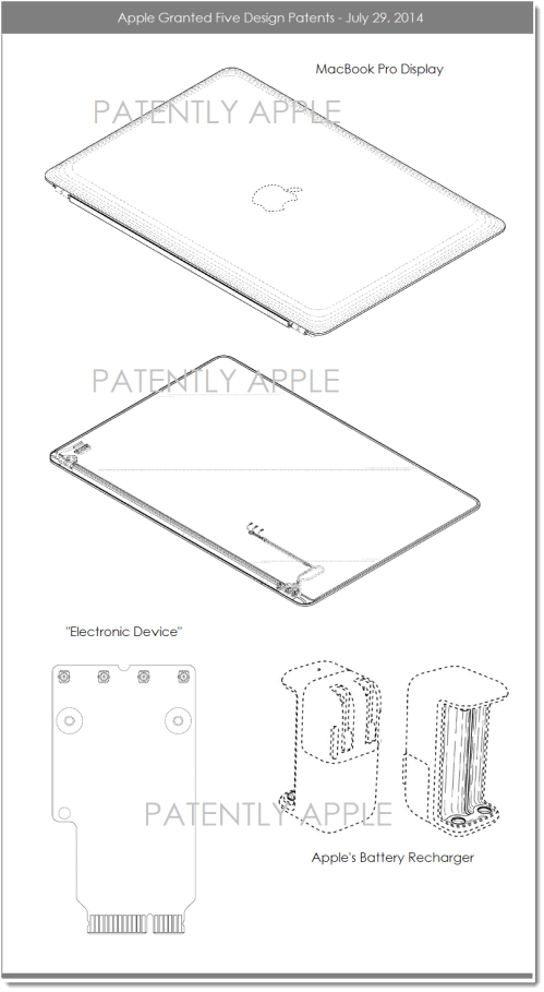 small resolution of 4af apple granted 5 design patents july 29 2014