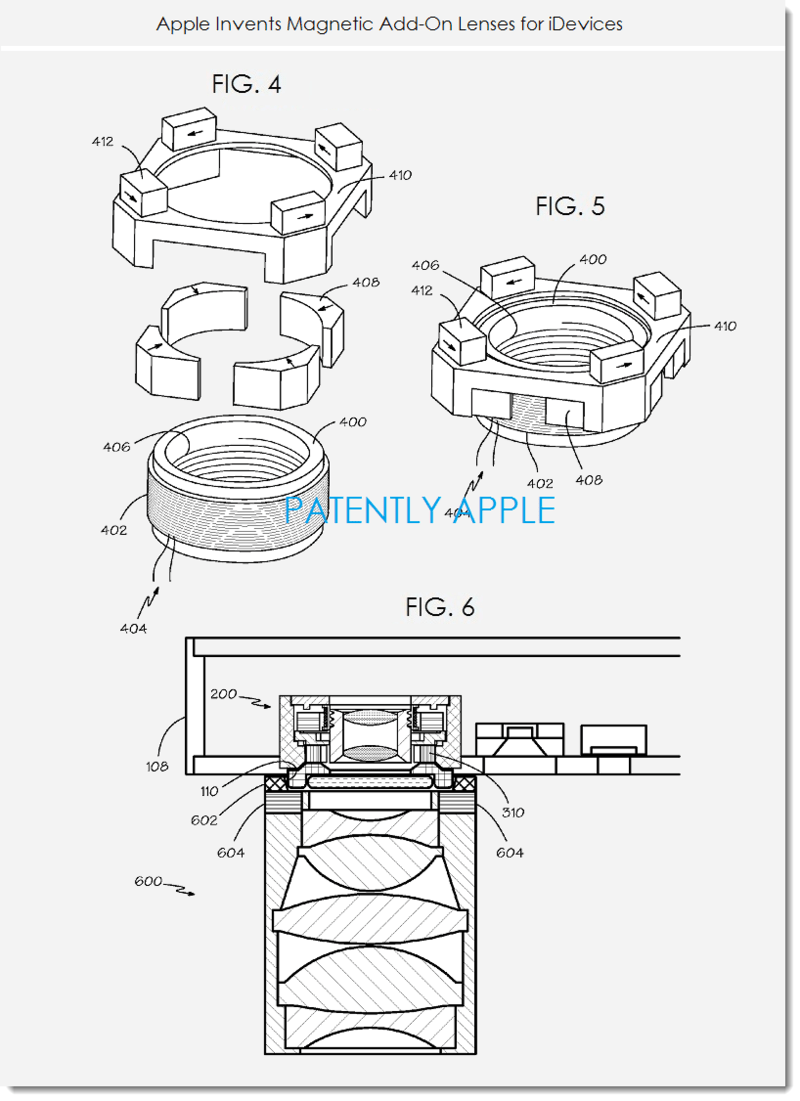Apple Patent Reveals Magnetic Add-On Camera lenses for
