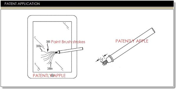 Apple Invents an Extendable Stylus Tip for Artist Brush