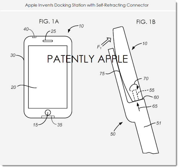 Apple Invents Docking Station with Self-Retracting