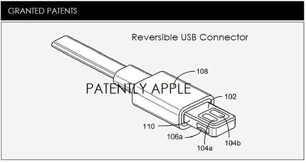 Apple Granted a Second Major Patent for a Reversible USB