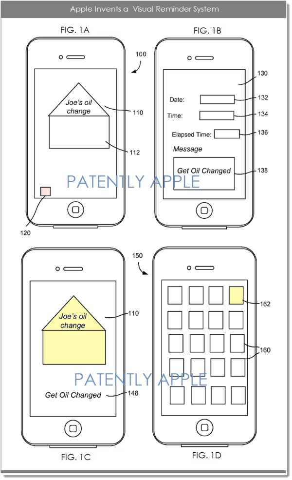 Apple invents a Visual Reminder System for the iPhone