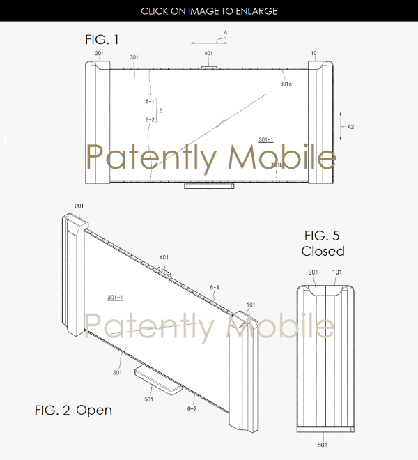 Samsung Patents reveal a new Foldable Smartphone Mechanism