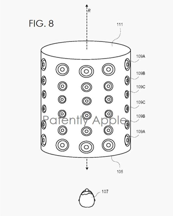 Apple's invents a Rotationally Symmetric Speaker Array