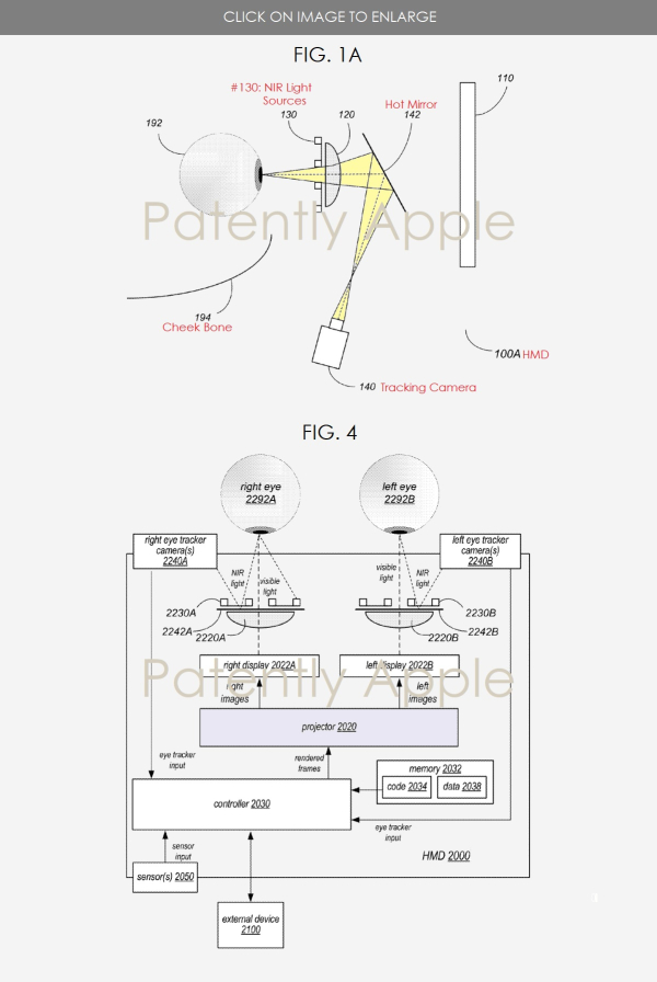 Apple Patent Reveals Eye-Tracking & Near Infrared Camera