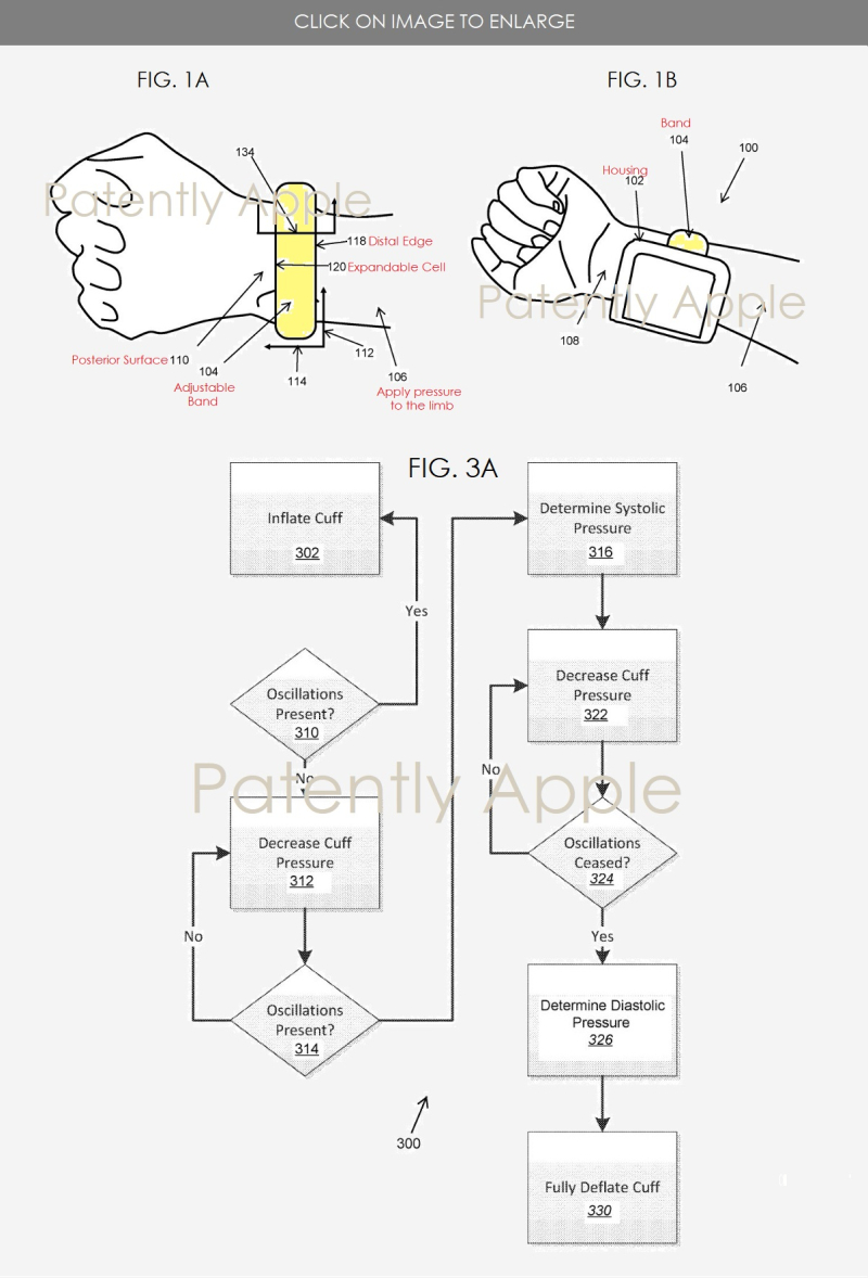 Apple Patent Reveals a Custom Inflatable Blood Pressure