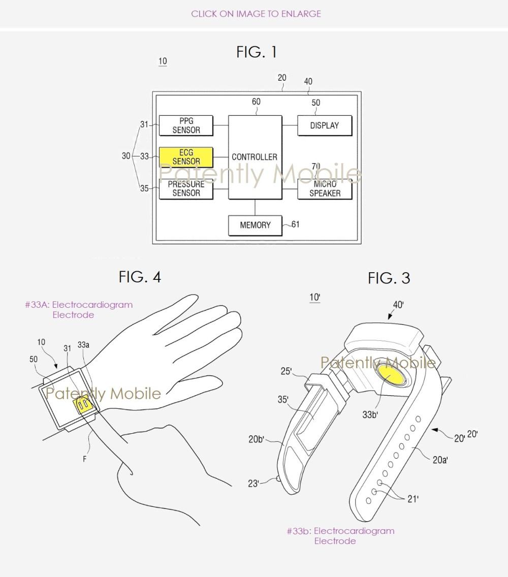 medium resolution of 2 samsung ecg patent for gear watch feature