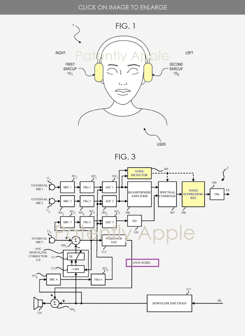 Apple Wins First Noise and Wind Cancellation Patent for