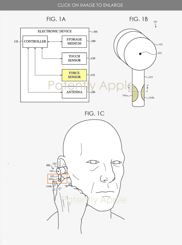 The patent behind Apple's AirPods Pro with Force Sensing