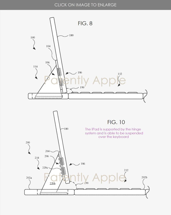 Apple Patent reveals Magic Keyboard Supporting a Floating