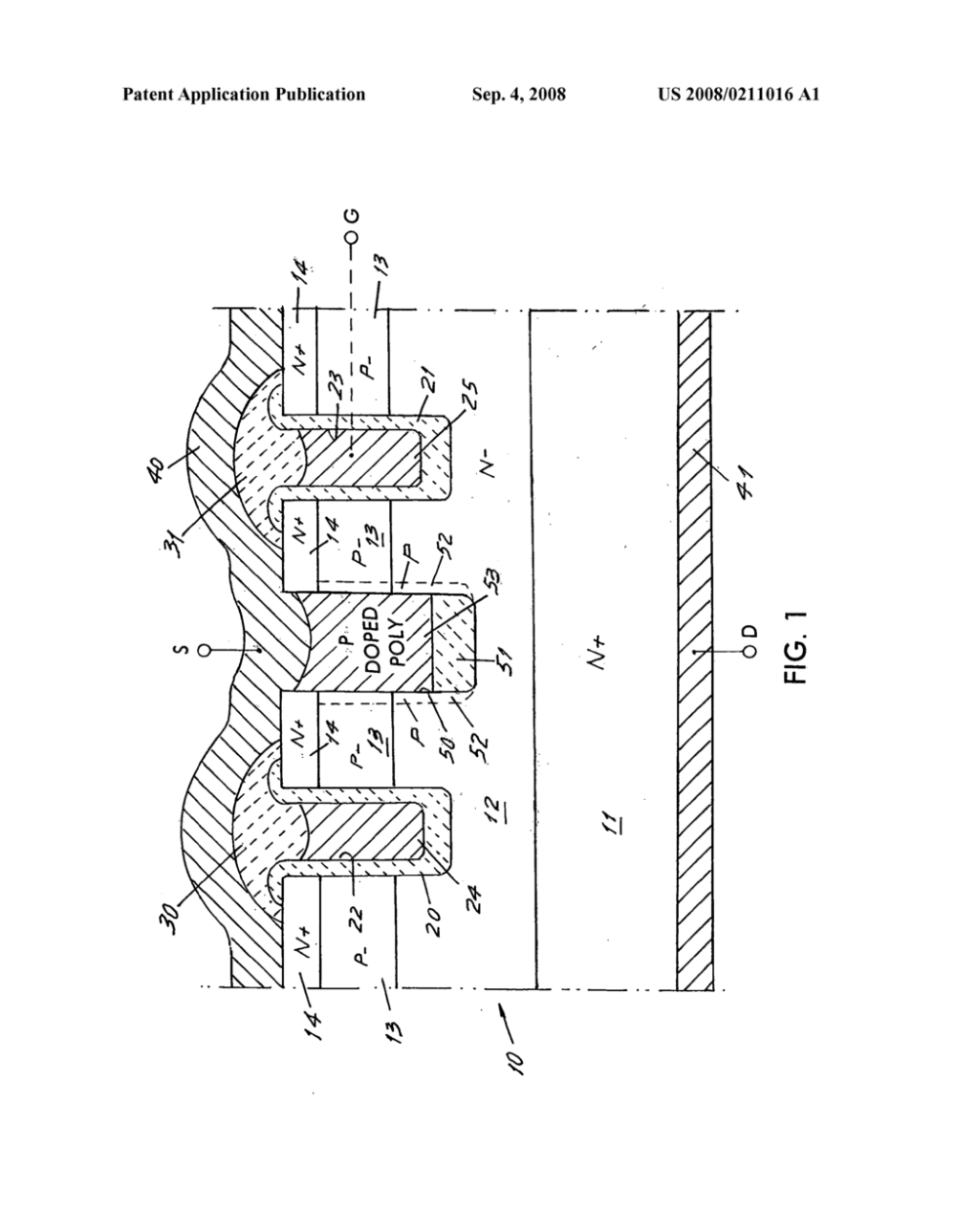 medium resolution of trench mosgated device with deep trench between gate trenches diagram schematic and image 02