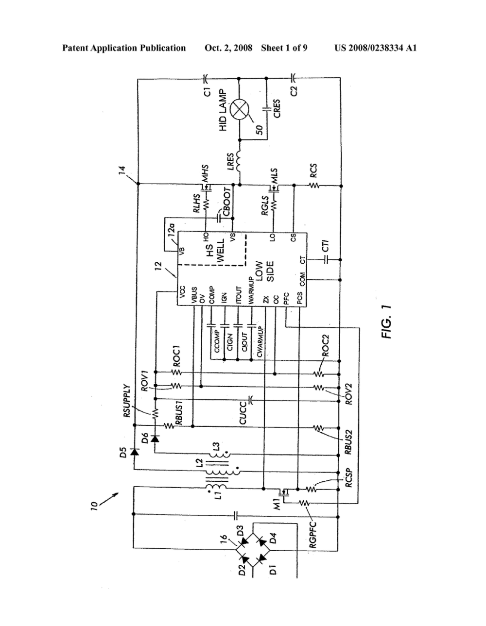 medium resolution of hid lamp ballast circuit diagram schematic and image 02 hid ballast circuit diagram