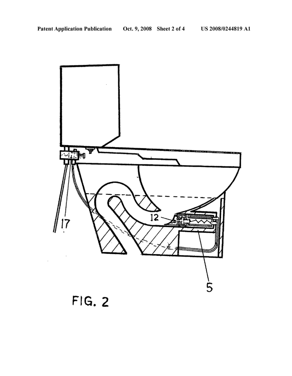 medium resolution of self plunging toilet and method of clearing a toilet diagram schematic and image 03