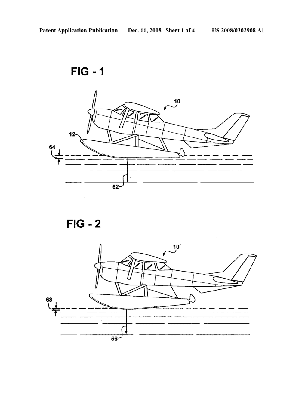 hight resolution of detachable hydrofoil trim tabs for use with seaplane floats for assisting with lower speed on plane condition and stability during step turning chine walk