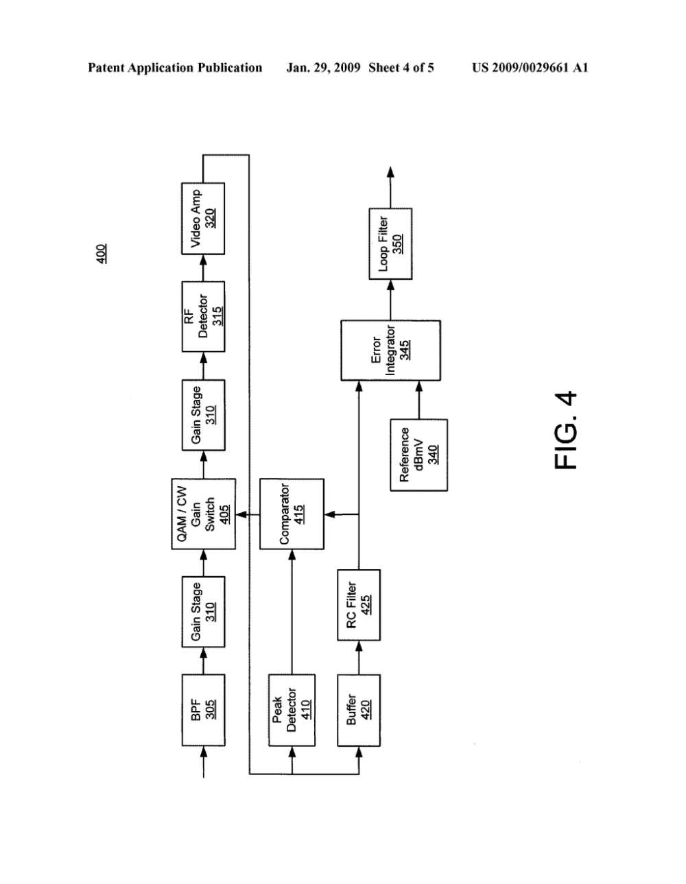medium resolution of amplifier with a quadrature amplitude modulation qam modulated and a continuous wave automatic gain control agc circuit diagram schematic and image