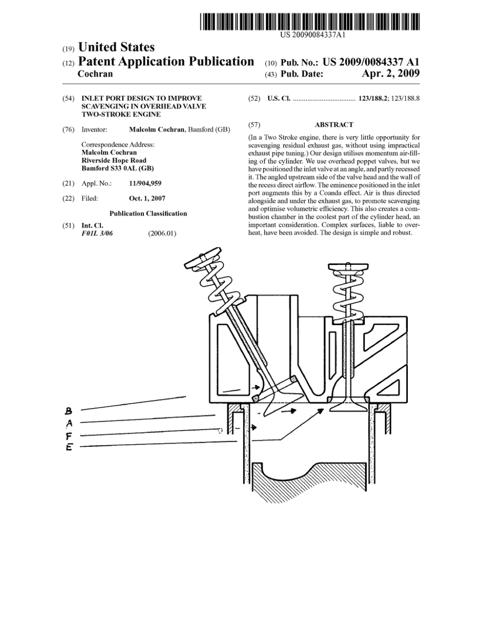 medium resolution of inlet port design to improve scavenging in overhead valve two stroke engine diagram