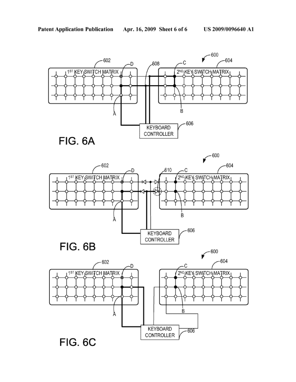 medium resolution of keyboard with plural key switch matrices to detect ghosting diagram schematic and image 07