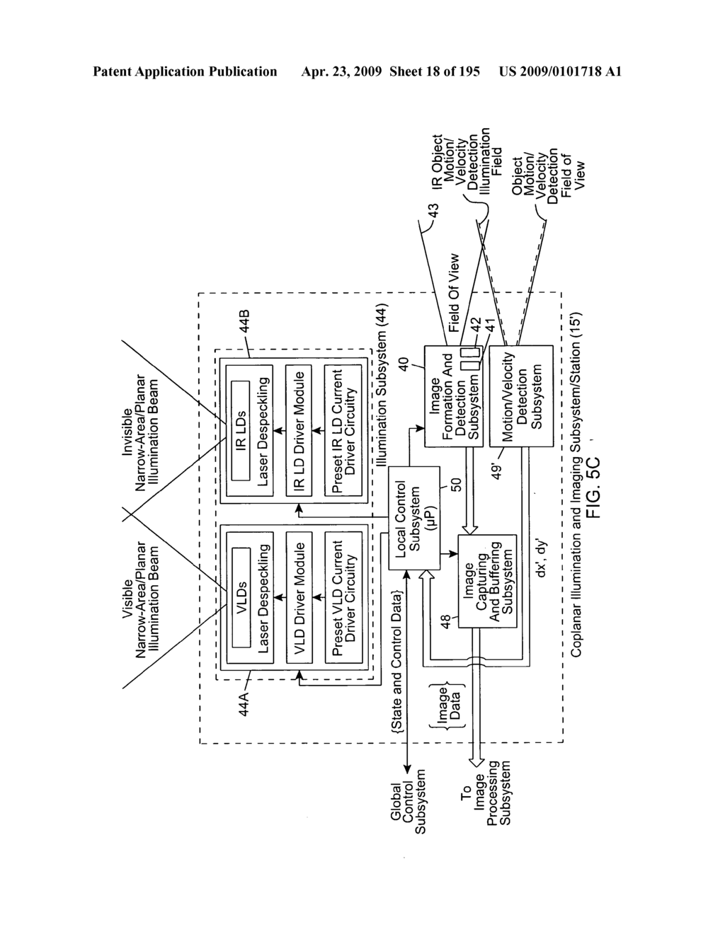 hight resolution of digital image capturing and processing system employing automatic object detection and spectral mixing based illumination techniques diagram schematic