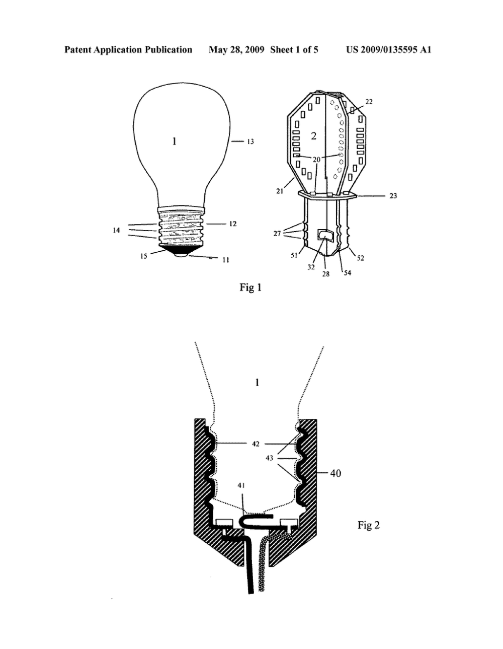medium resolution of light bulb with light emitting elements for use in conventional incandescent light bulb sockets diagram schematic and image 02