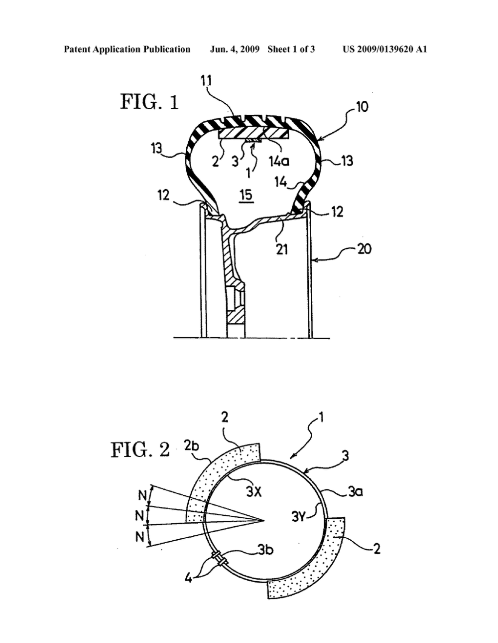 medium resolution of tire cavity resonance restricting device and pneumatic tire diagram schematic and image 02