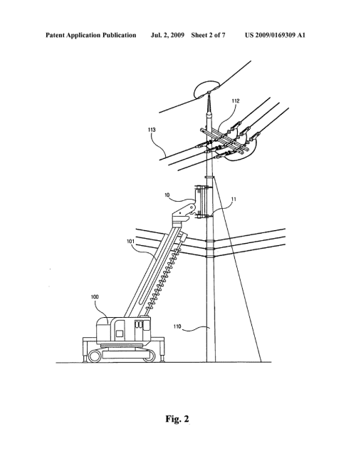 small resolution of method for replacing concrete utility pole without interrupting power supply by adopting pole clamp and pole crusher diagram schematic and image 03