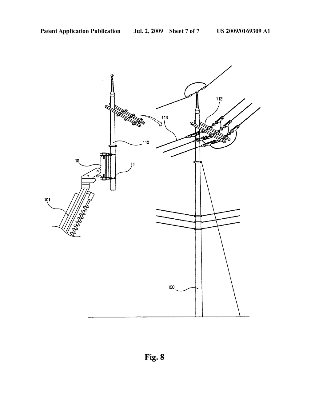 hight resolution of method for replacing concrete utility pole without interrupting power supply by adopting pole clamp and pole crusher diagram schematic and image 08