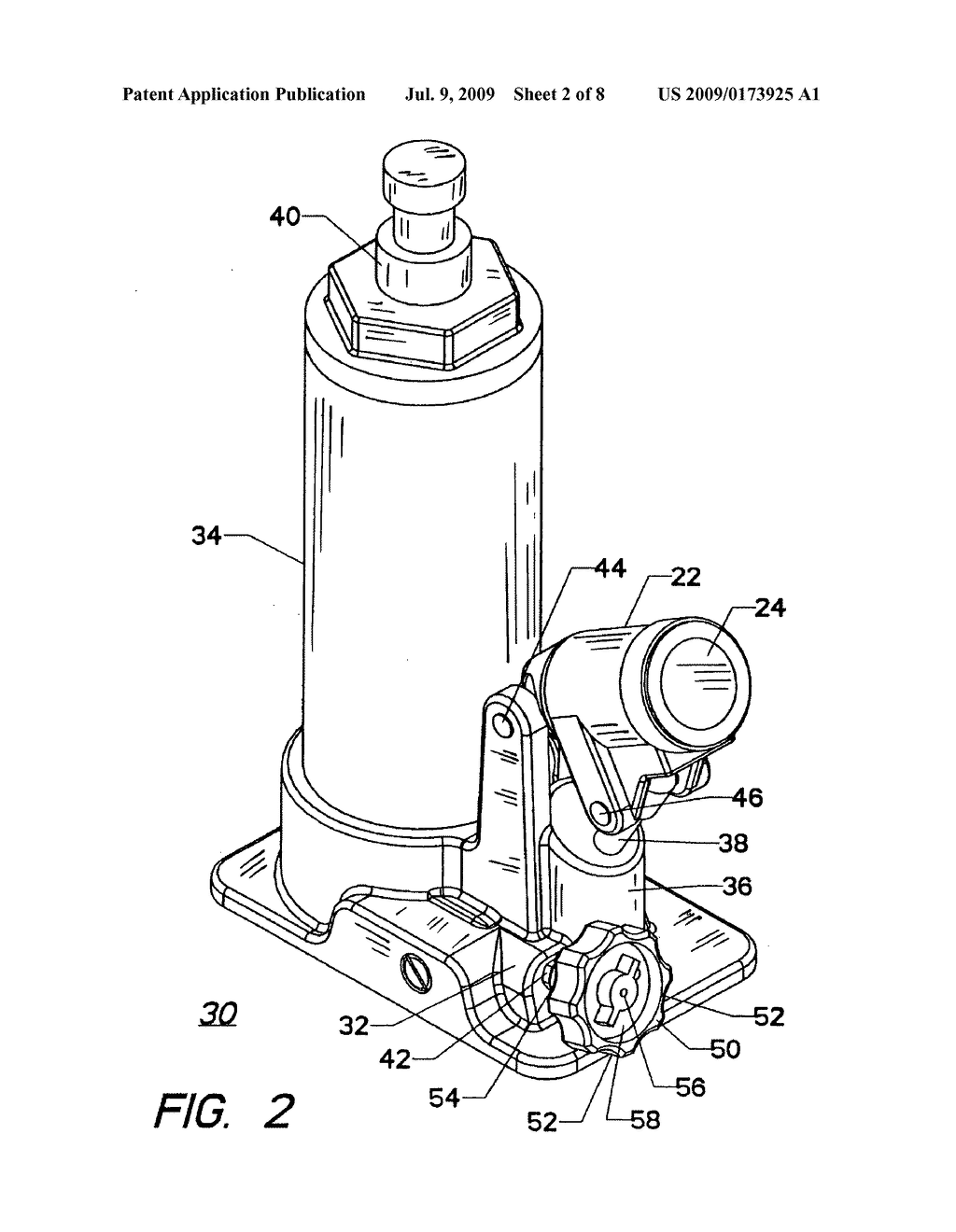 Hydraulic Bottle Jack Schematic