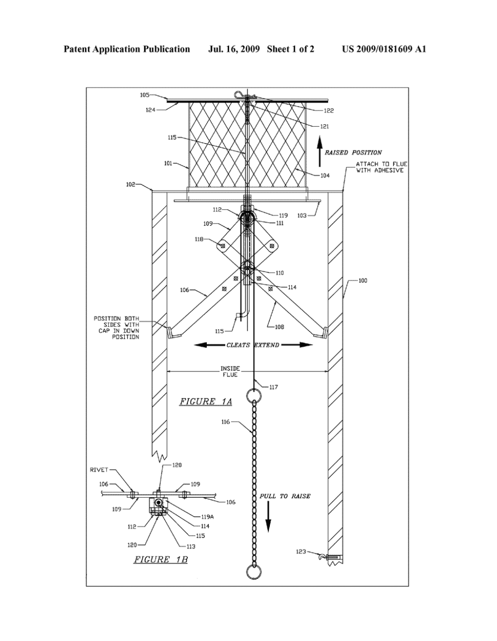 medium resolution of retractable hideaway chimney damper cap diagram schematic and image 02