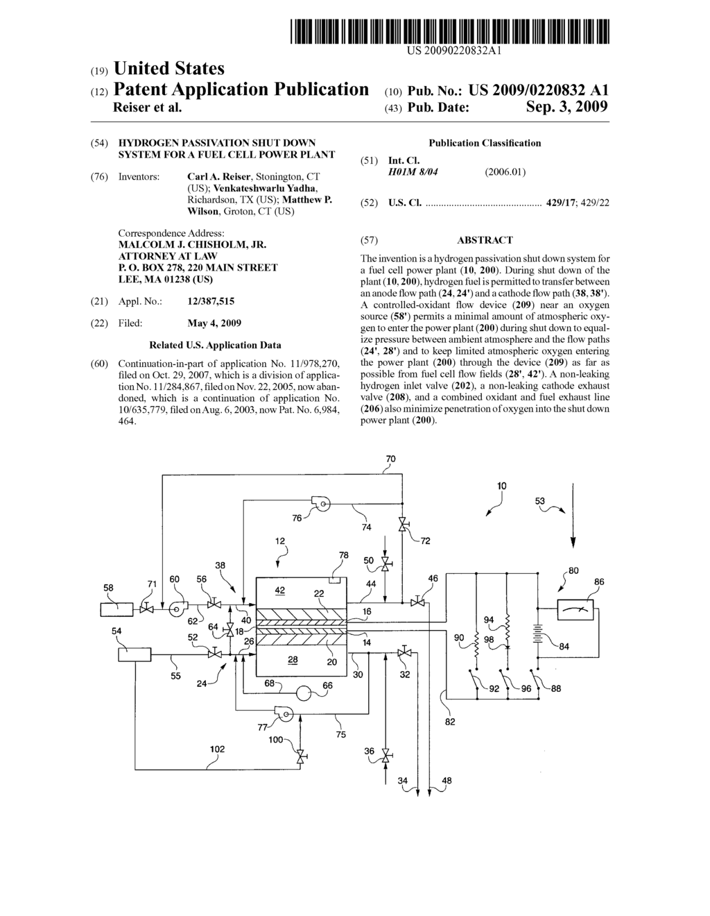 hight resolution of hydrogen passivation shut down system for a fuel cell power plant diagram schematic and image 01