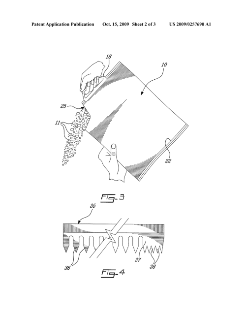 small resolution of heavy duty plastic bag with easy tear corner spout portion diagram schematic and image 03