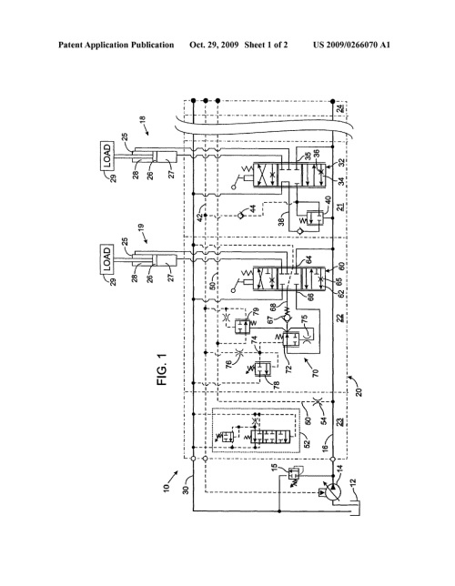 small resolution of post pressure compensated hydraulic control valve with load sense pressure limiting diagram schematic and image 02
