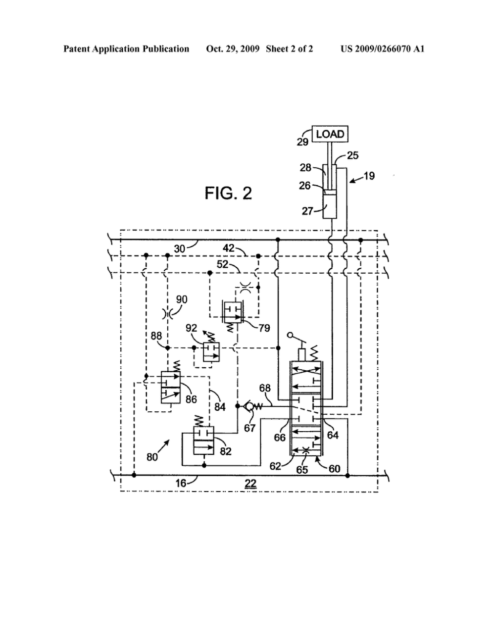 medium resolution of post pressure compensated hydraulic control valve with load sense pressure limiting diagram schematic and image 03