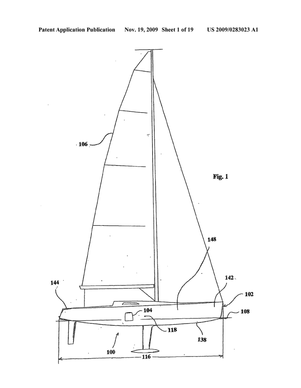 medium resolution of monohull sailing vessel having a lifting hydrofoil diagram schematic and image 02