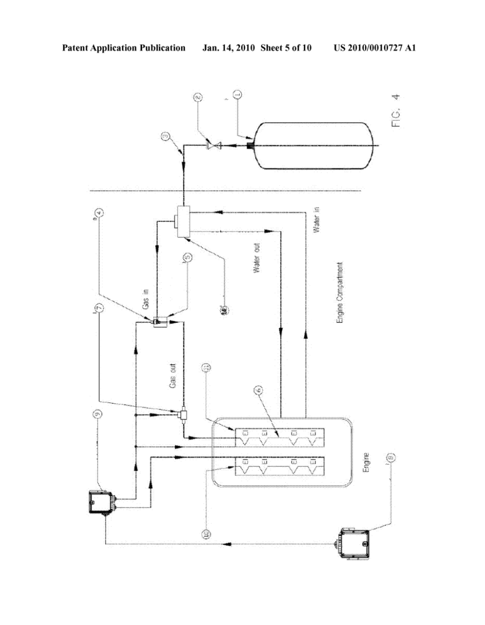 medium resolution of system for supply of lpg methane ammonia and gas in general for petrol or diesel engines with electronic pressure regulator for continuous variation of