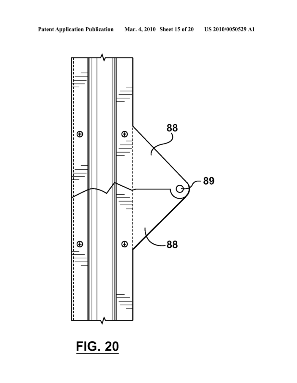 medium resolution of garage door apparatus with folding door panels diagram schematic and image 16