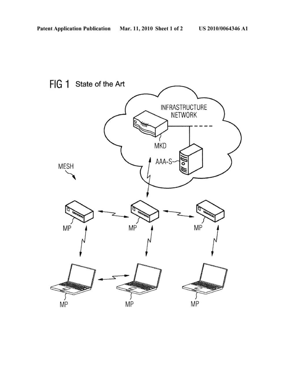 medium resolution of method and arrangement for providing a wireless mesh network diagram schematic and image 02