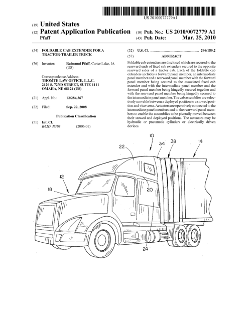 small resolution of foldable cab extender for a tractor trailer truck diagram foldable cab extender for a tractor trailer