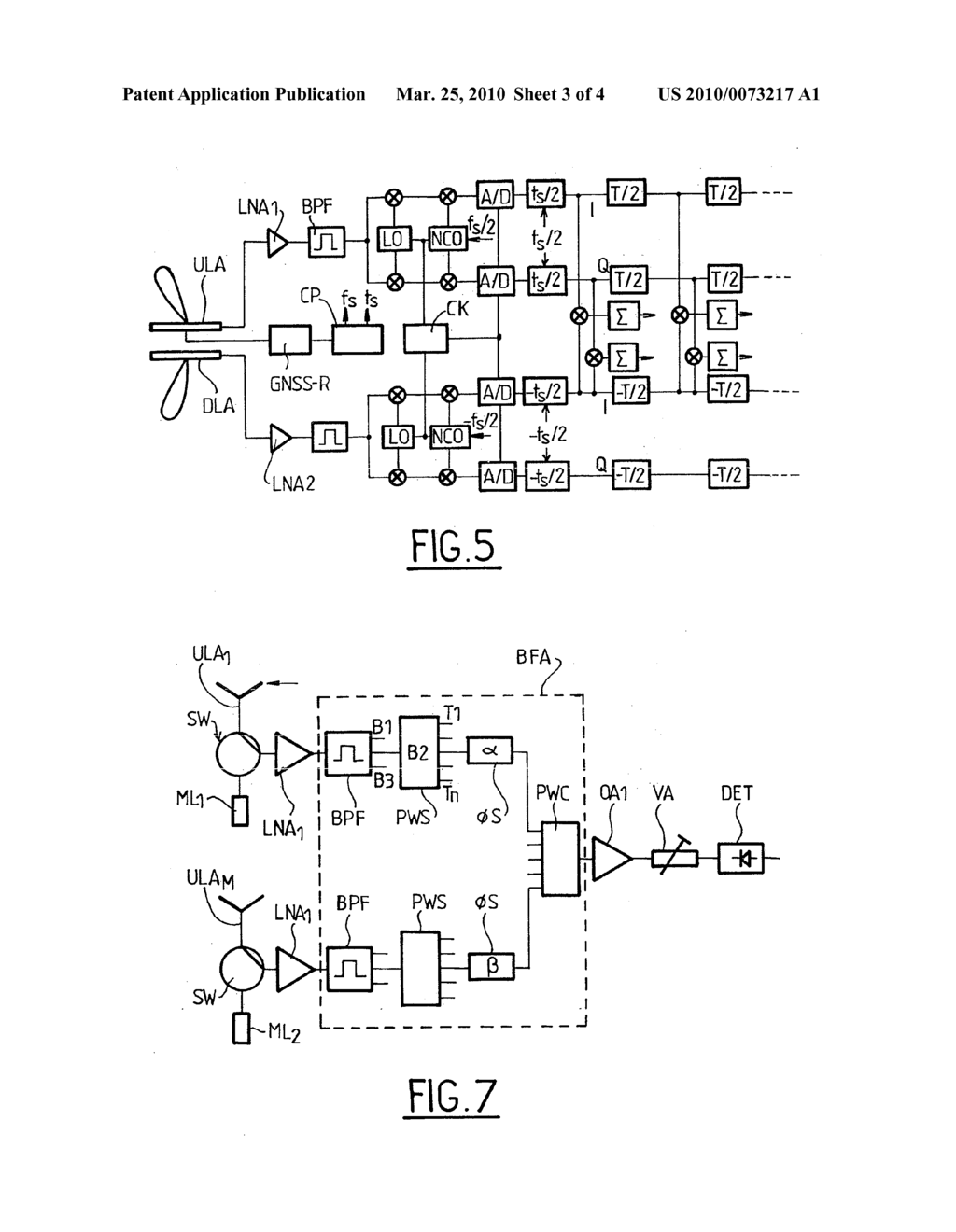 hight resolution of space borne altimetry apparatus antenna subsystem for such an apparatus and methods for calibrating the same diagram schematic and image 04