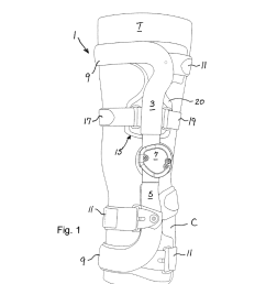 compression suspension strap assembly and knee brace equipped therewith diagram schematic and image 02 [ 1024 x 1320 Pixel ]