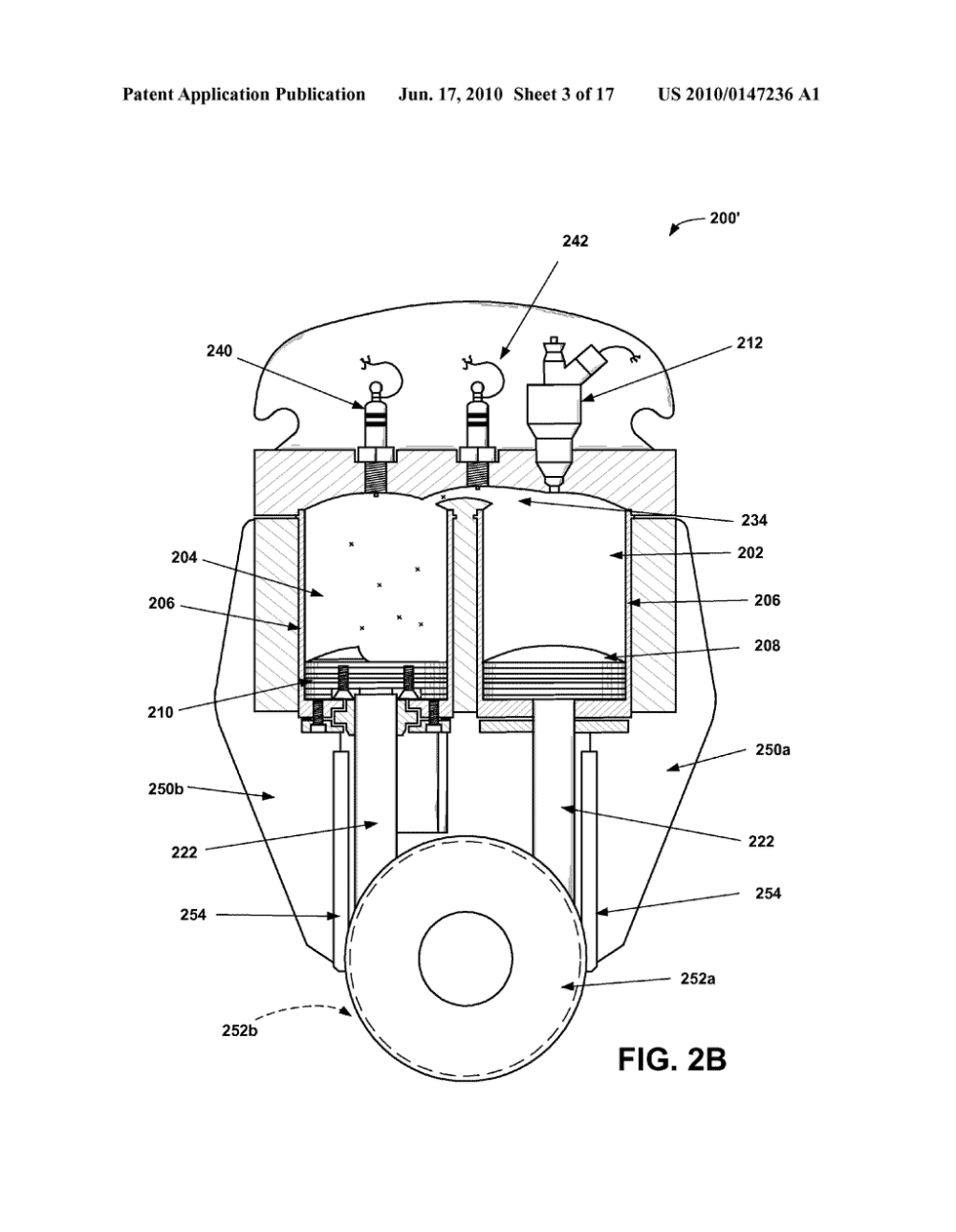 medium resolution of tandem twin power unit engine having an oscillating cylinder diagram schematic and image 04